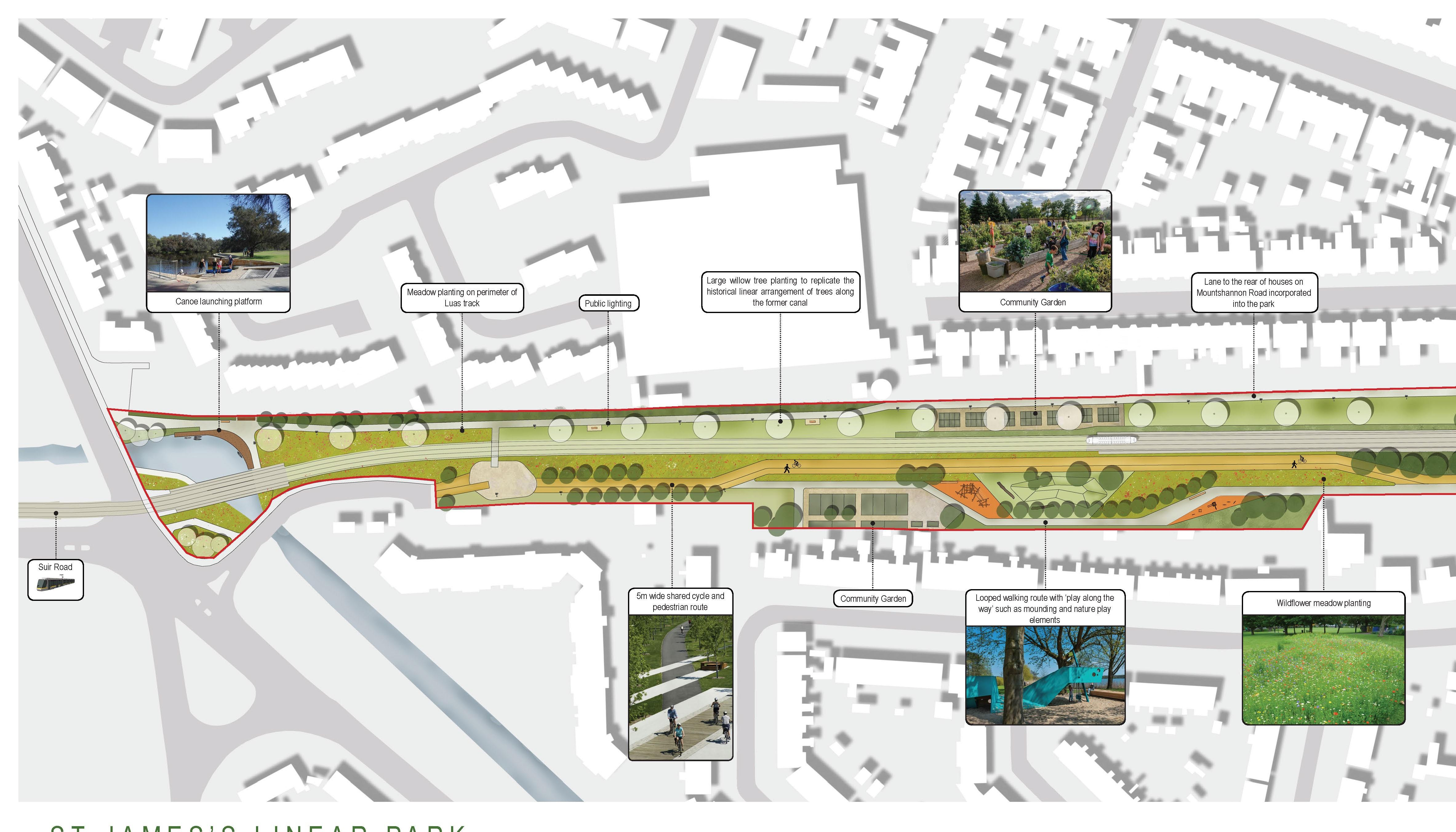 Design published for St James to Suir Road Linear Park